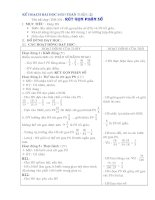 Kế hoạch bài dạy môn toán lớp 4 từ tuần  21 30