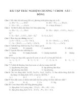 Bài tập trắc nghiệm môn hóa học (55)