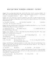 Bài tập trắc nghiệm môn hóa học (12)