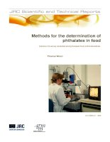 Methods for the determination ofphthalates in food