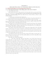 CHƯƠNG 1:MÔI TRƯỜNG PHÁP LÝ CHO HOẠT ĐỘNG KINH DOANH