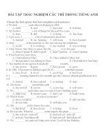 Bài tập trắc nghiệm các thì trong tiếng anh (2)