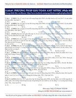 phương pháp giải toán axit   nitric