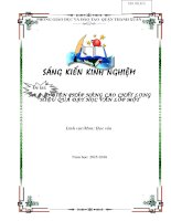 SKKN mot so bien phap nang cao chat luong hieu qua day học van lop 1