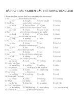 Bài tập trắc nghiệm các thì trong tiếng anh (1)