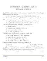 Bài tập trắc nghiệm môn hóa học (129)