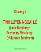 Tinh Luyện Ngoài Lò (Ladle Metallurgy, Secondary Metallurgy, Off-furnace Treatment)