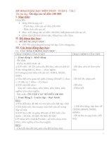 Kế hoạch bài dạy môn toán lớp 4 từ tuần  1 10