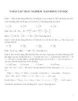 Bài tập trắc nghiệm môn vật lý lớp 12 (71)