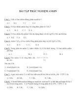 Bài tập trắc nghiệm môn hóa học (40)