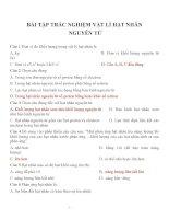 Bài tập trắc nghiệm môn vật lý lớp 12 (44)