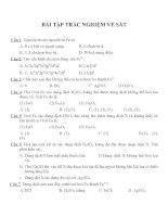 Bài tập trắc nghiệm môn hóa học (19)