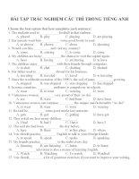 Bài tập trắc nghiệm các thì trong tiếng anh (7)