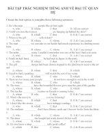 Bài tập trắc nghiệm môn tiếng anh 12 (3)