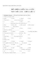 Tổng hợp đề cương môn tiếng anh (15)