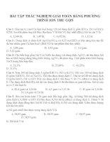 Bài tập trắc nghiệm môn hóa học (23)