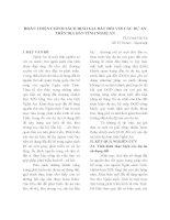 HOÀN THIỆN CHÍNH SÁCH ĐỊNH GIÁ ĐẤT ĐỐI VỚI CÁC DỰ ÁN TRÊN ĐỊA BÀN TỈNH NGHỆ AN