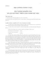PHẦN I ĐẠI CƯƠNG VI SINH Y HỌC, ĐỐI TƯỢNG NGHIÊN CỨUVÀ LỊCH SỬ PHÁT TRIỂN CỦA VI SINH VẬT HỌC