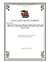 SKKN  tập làm văn lớp 3; rèn kỹ năng nói – viết qua phân môn tập làm văn lớp 3, góp phần nâng cao chất lượng môn tiếng việt