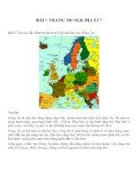 Bài tâp SGK môn địa lý lớp 7 (49)