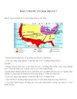 Bài tâp SGK môn địa lý lớp 7 (57)
