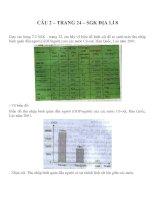 Bài tập SGK môn địa lý lớp 8 (4)