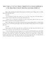 BÀI TẬP 4, 5 VỀ SỰ PHÁT TRIỂN CỦA SINH GIỚI QUA CÁC ĐẠI ĐỊA CHẤT TRANG 143 SGK SINH 12