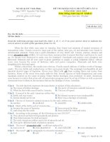 Đề thi chất lượng tiếng anh lớp 10 tham khảo (1)