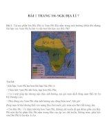 Bài tâp SGK môn địa lý lớp 7 (79)