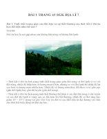 Bài tâp SGK môn địa lý lớp 7 (19)