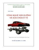 Giáo trình công nghệ sửa chữa và bảo dưỡng ô tô chương 1