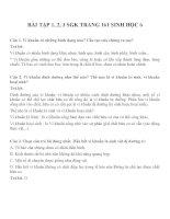 Bài tập SGK môn sinh học lớp 6 (25)