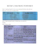 Bài tập SGK môn sinh học lớp 8 (11)