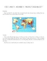 Bài tâp SGK môn địa lý lớp 7 (78)