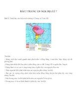 Bài tâp SGK môn địa lý lớp 7 (58)