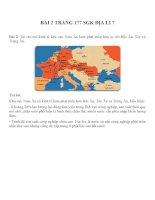Bài tâp SGK môn địa lý lớp 7 (60)