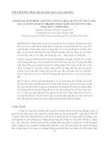 ĐÁNH GIÁ TÌNH HÌNH CẤP GIẤY CHỨNG NHẬN QUYỀN SỬ DỤNG ĐẤT SAU LUẬT ĐẤT ĐAI TỪ 2004 ĐẾN 2010 TẠI HUYỆN HƯƠNG TRÀ, TỈNH THỪA THIÊN HUẾ