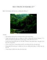 Bài tâp SGK môn địa lý lớp 7 (43)