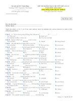 Đề thi chất lượng tiếng anh lớp 10 tham khảo (2)