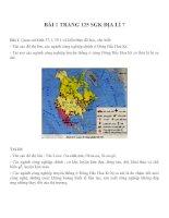 Bài tâp SGK môn địa lý lớp 7 (2)