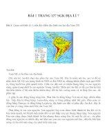 Bài tâp SGK môn địa lý lớp 7 (8)