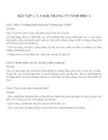 Bài tập SGK môn sinh học lớp 6 (14)