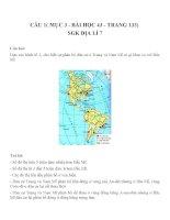 Bài tâp SGK môn địa lý lớp 7 (53)