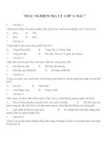 Bài tập trắc nghiệm địa lý lớp 10 (5)