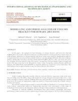 MODELLING AND STRESS ANALYSIS OF COLUMN BRACKET FOR ROTARY JIB CRANE