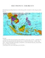 Bài 2 SGK trang 91 môn địa lý lớp 8
