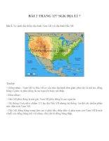 Bài tâp SGK môn địa lý lớp 7 (17)