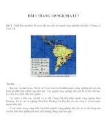 Bài tâp SGK môn địa lý lớp 7 (56)