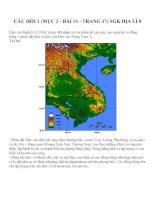 Bài tập SGK môn địa lý lớp 8 (73)