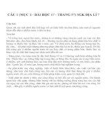 Bài tâp SGK môn địa lý lớp 7 (85)